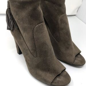 Vince Camuto Calissa Brown Open Toe Ankle Boots